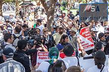 A protest scene