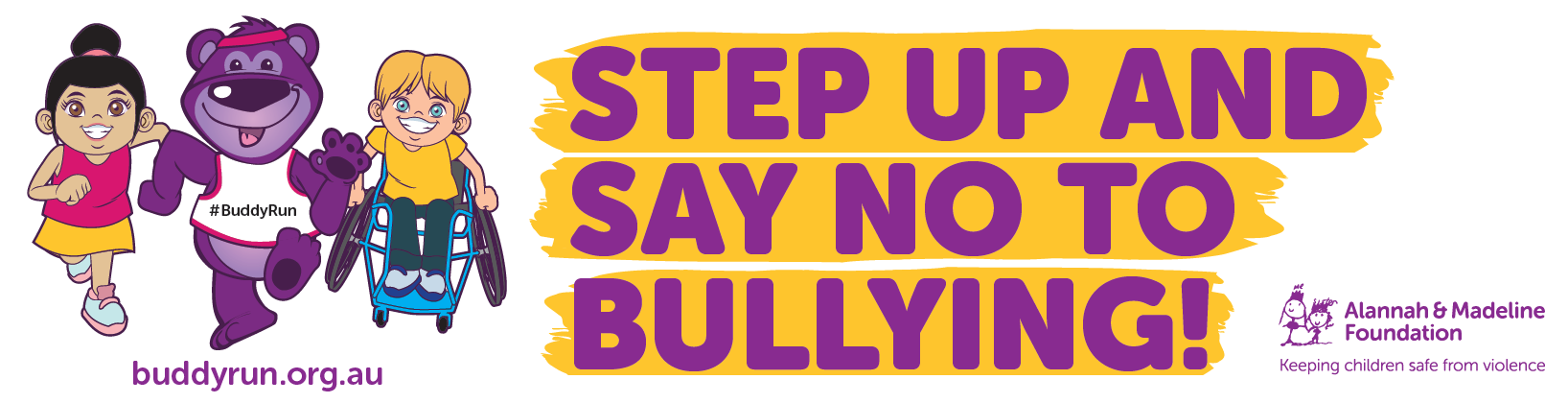 Join us for the Buddy Run this October and say no to bullying!