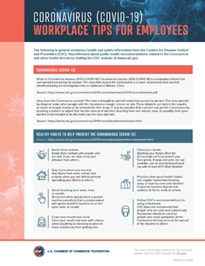 Workplace Tips for Employers and Employees (courtesy of The U.S. Chamber of Commerce and the U.S. Chamber of Commerce Foundation: