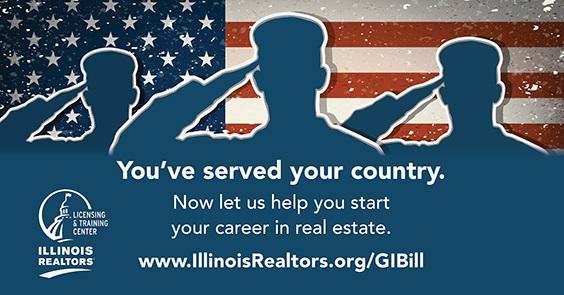 www.IllinoisREALTORS.org/GIBill