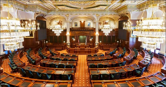 Photo of Illinois Senate Chamber