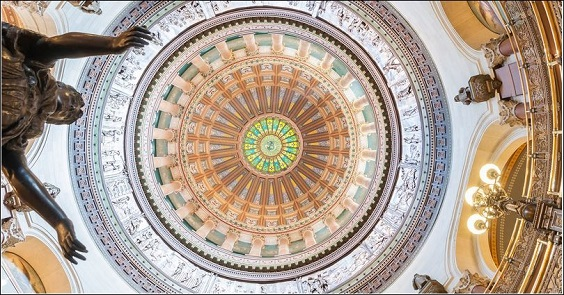 Interior view of Illinois State Capitol dome