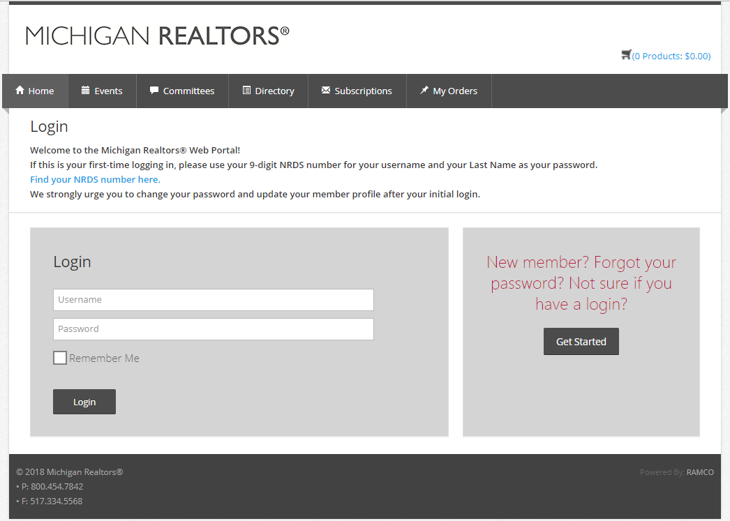 Michigan Realtors Web Portal