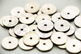 Nærbilde av mynter