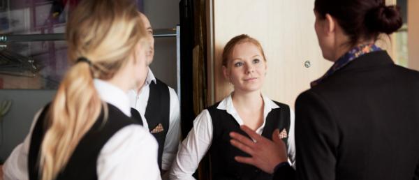 Servitører og sjef