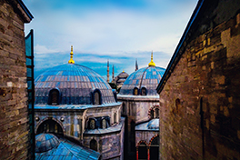 Bildet av taket på en moske