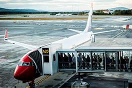 Ombordstigning i et Norwegian-fly