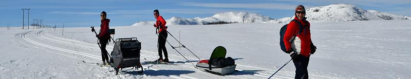 Bilde av skigåere.