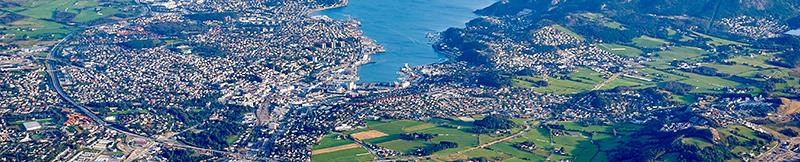 Flyfoto av Stavanger og omegn.