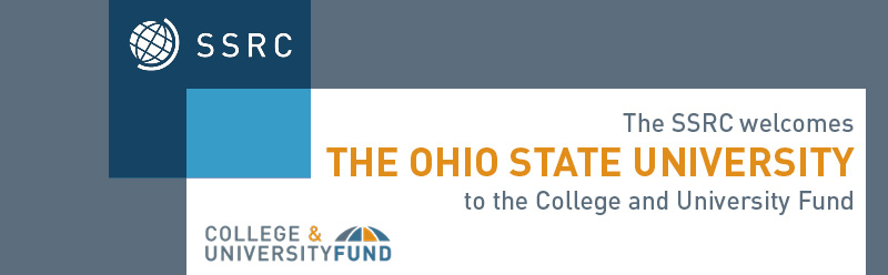 SSRC College and University Fund logo and The Ohio State University logo