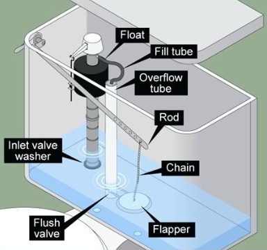 Image of toilet components