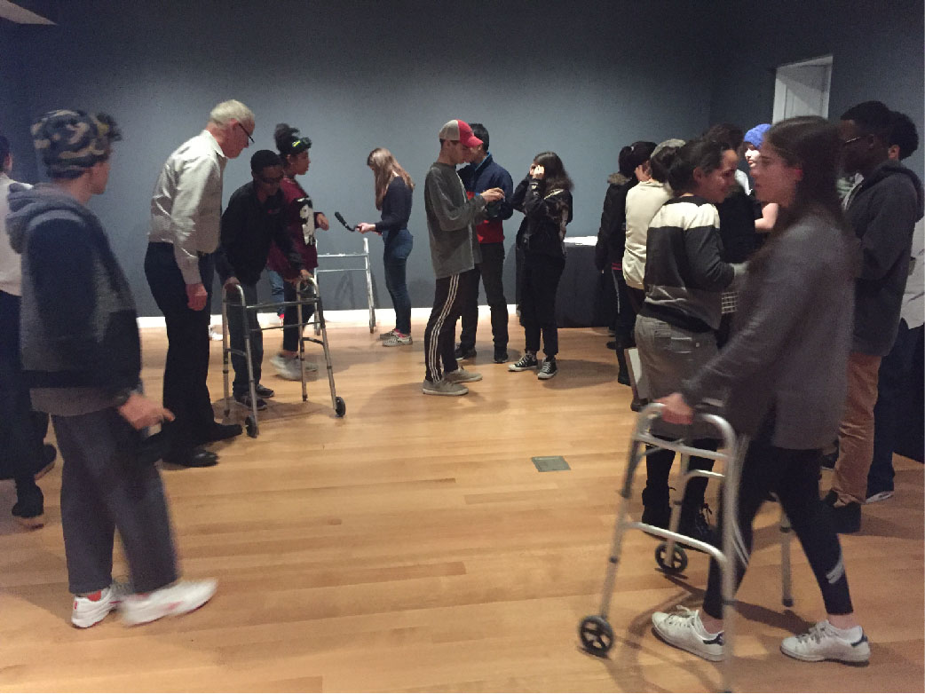 Students learn about accessibility at the Cooper Hewitt Museum