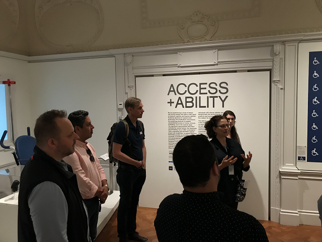 Image of SWA's Accessibility Team at the Cooper Hewitt Museum