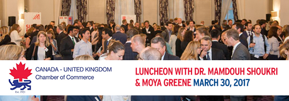 Canada - UK Chamber of Commerce Luncheon with Dr. Mamdouh Shoukri & Moya Greene @ Pewterers' Hall | England | United Kingdom